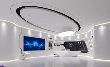 400平米航天科技展廳裝修效果圖