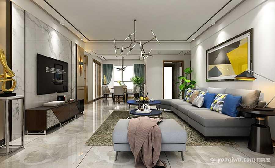 瑞马名门三居室现代风格装修效果图