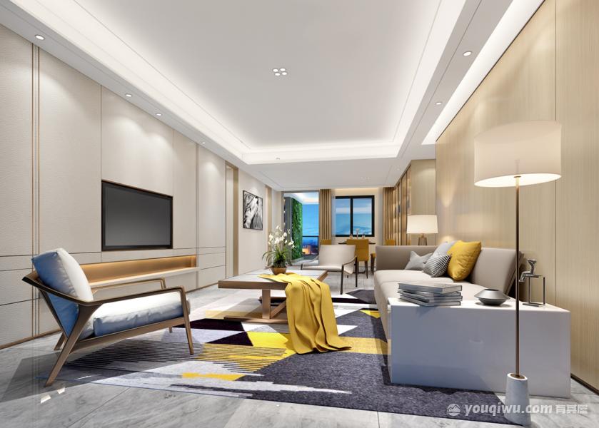 昆明万达城三居室中式风格装修效果图