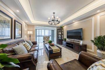 半岛国际140方四居室美式风格装修效果图