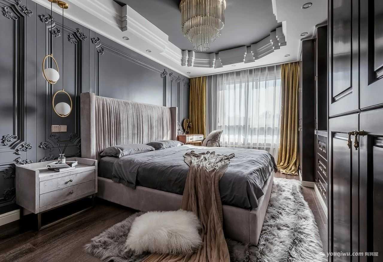 130平米三室意式风格装修效果图