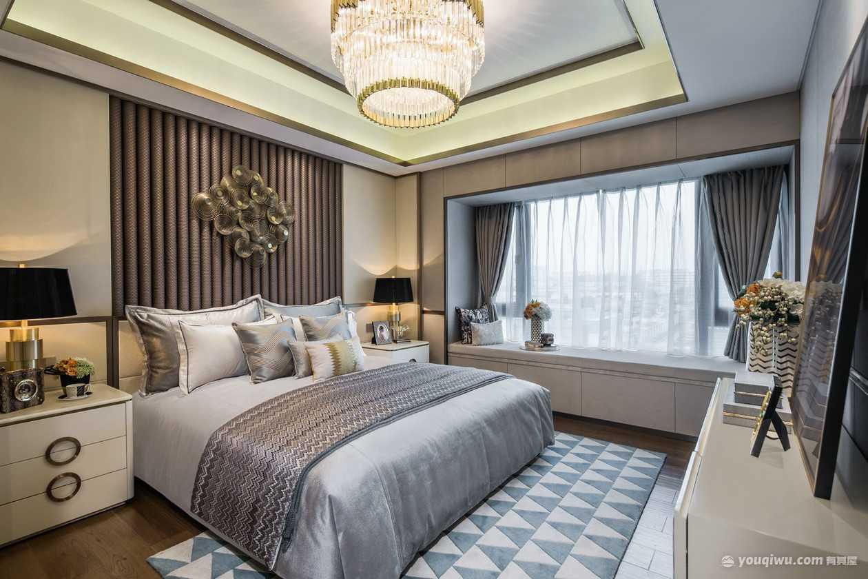 清渭公馆120平现代风格客厅装修效果图