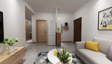 正商花钻83平欧式风格客厅装修效果图