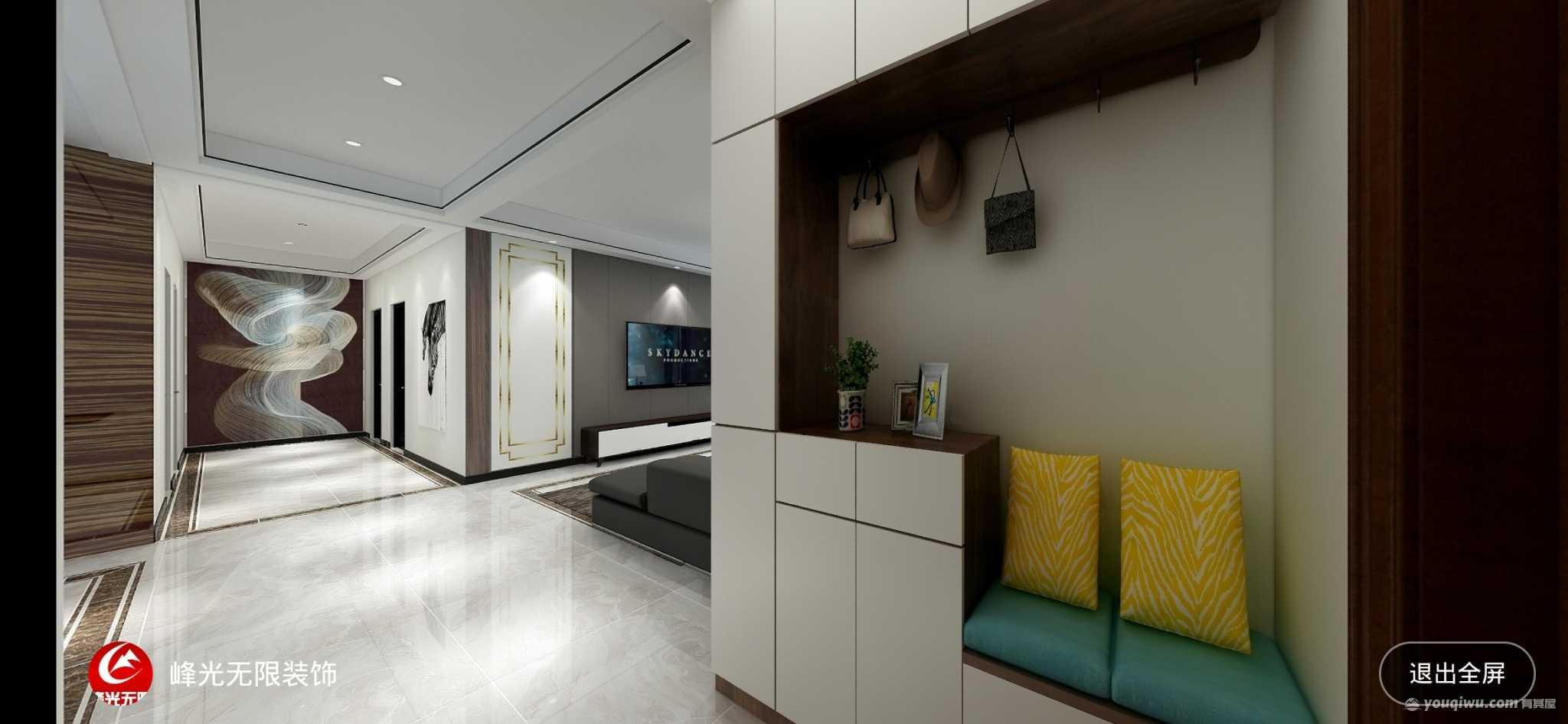 阳光城轻奢140平现代风格客厅装修效果图
