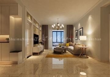 安居苑100平米三居室現代風格裝修效果圖
