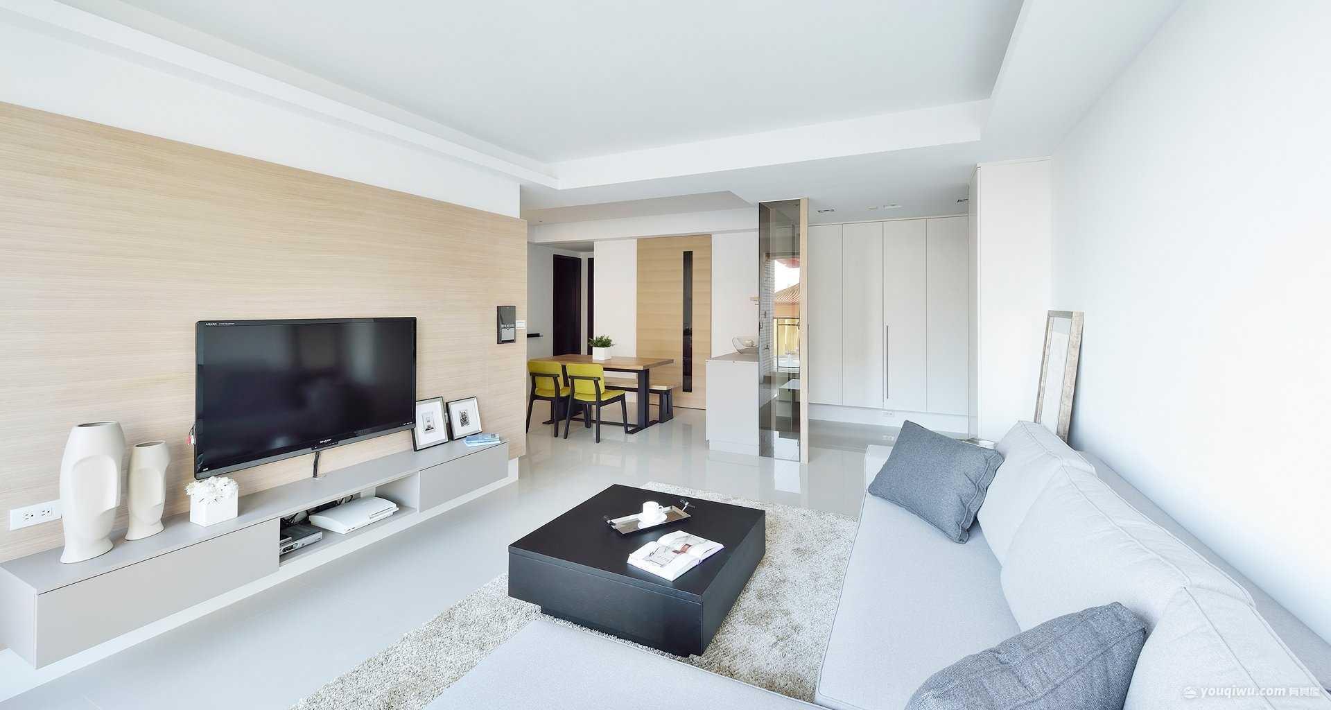 和昌湾景国际66平两居室简约风格装修效果图