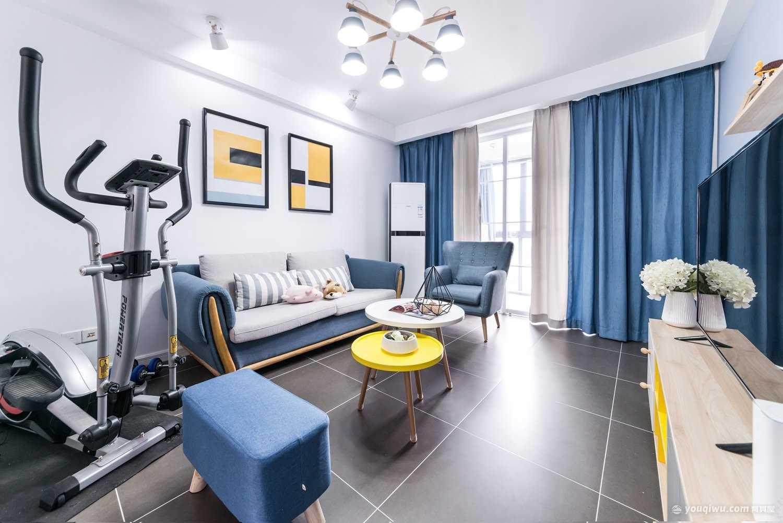 保利心语84平两居室北欧风格装修效果图
