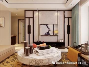 保利叶公馆 133平四室新中式风格装修效果图
