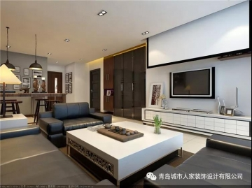 保利香槟国际 120平三室后现代风格装修效果图