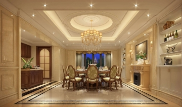 430平别墅欧式风格装修效果图