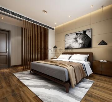 140平时尚稳重的家后现代风格装修效果图