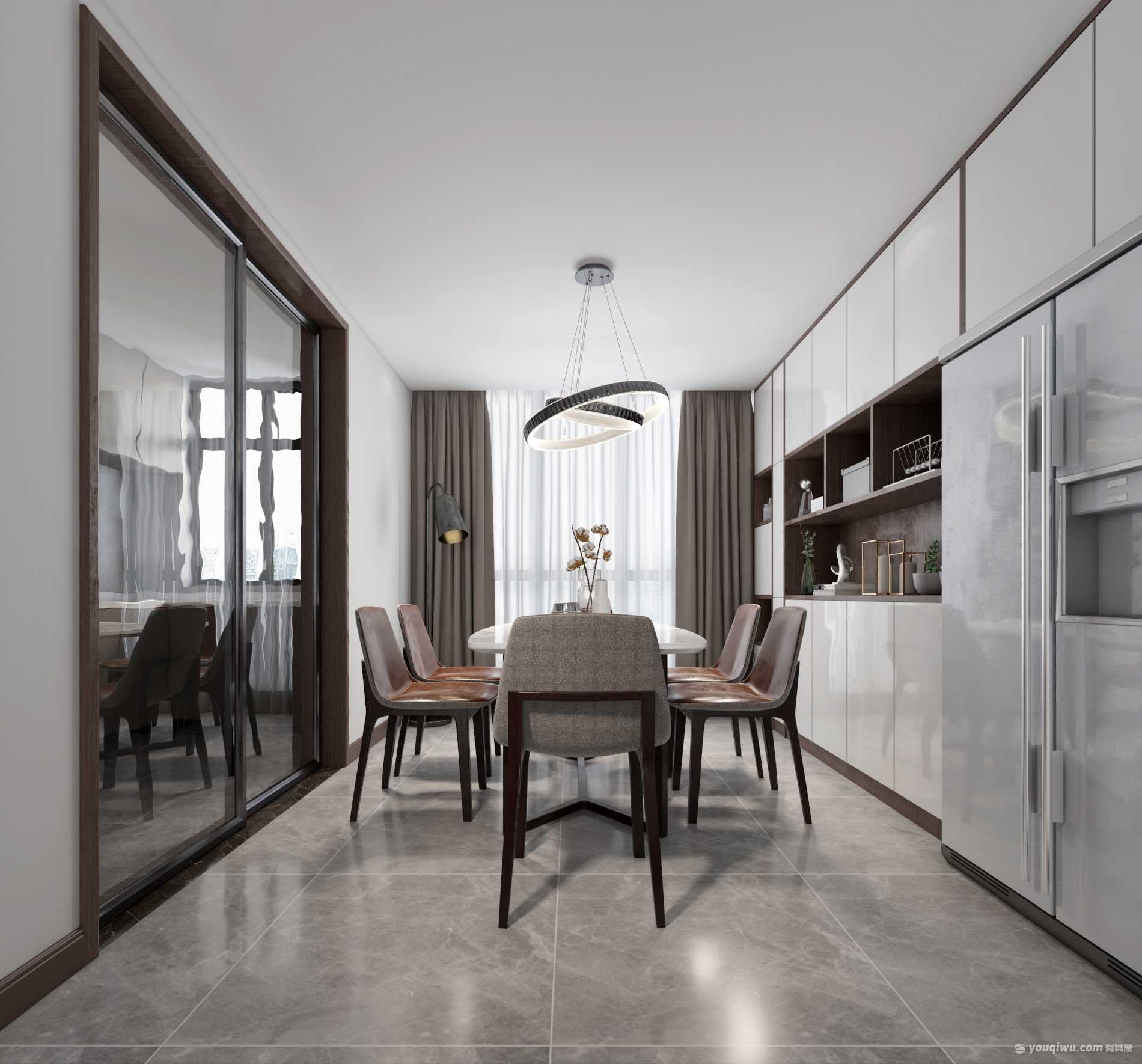 150平米三居室現代簡約風裝修效果圖