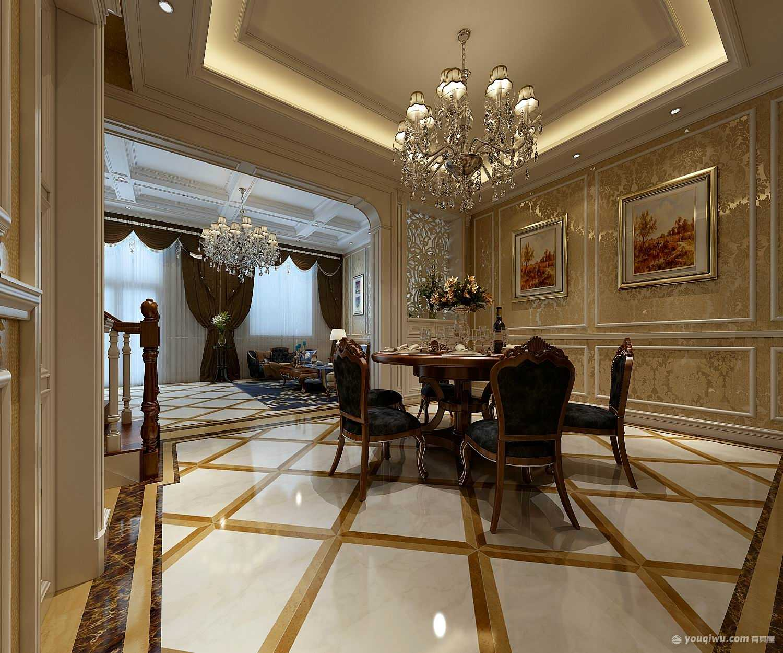 鄭州140平米復式房歐式風格裝修效果圖