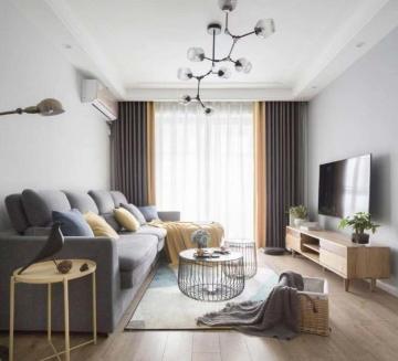 绿地香树花城87平米简约三居室装修效果图
