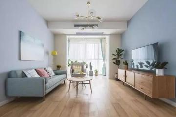 夏婷家園120平四居室清新自然雅居簡約風裝修效果圖