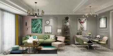 南大和园190平米三居室现代风格装修效果图