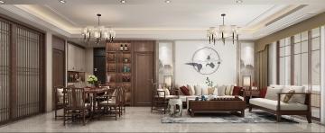 145平米四居室新中式装修效果图