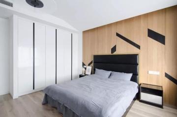 枫情水岸257㎡四居室现代黑白灰装修效果图