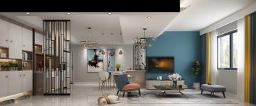 120平米三居室歐式風格裝修效果圖