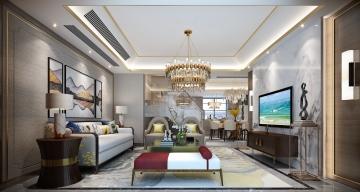 300平米复式房新中式 ...