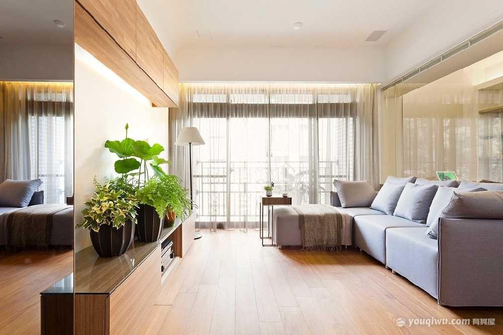 110平三室简约风格装修效果图