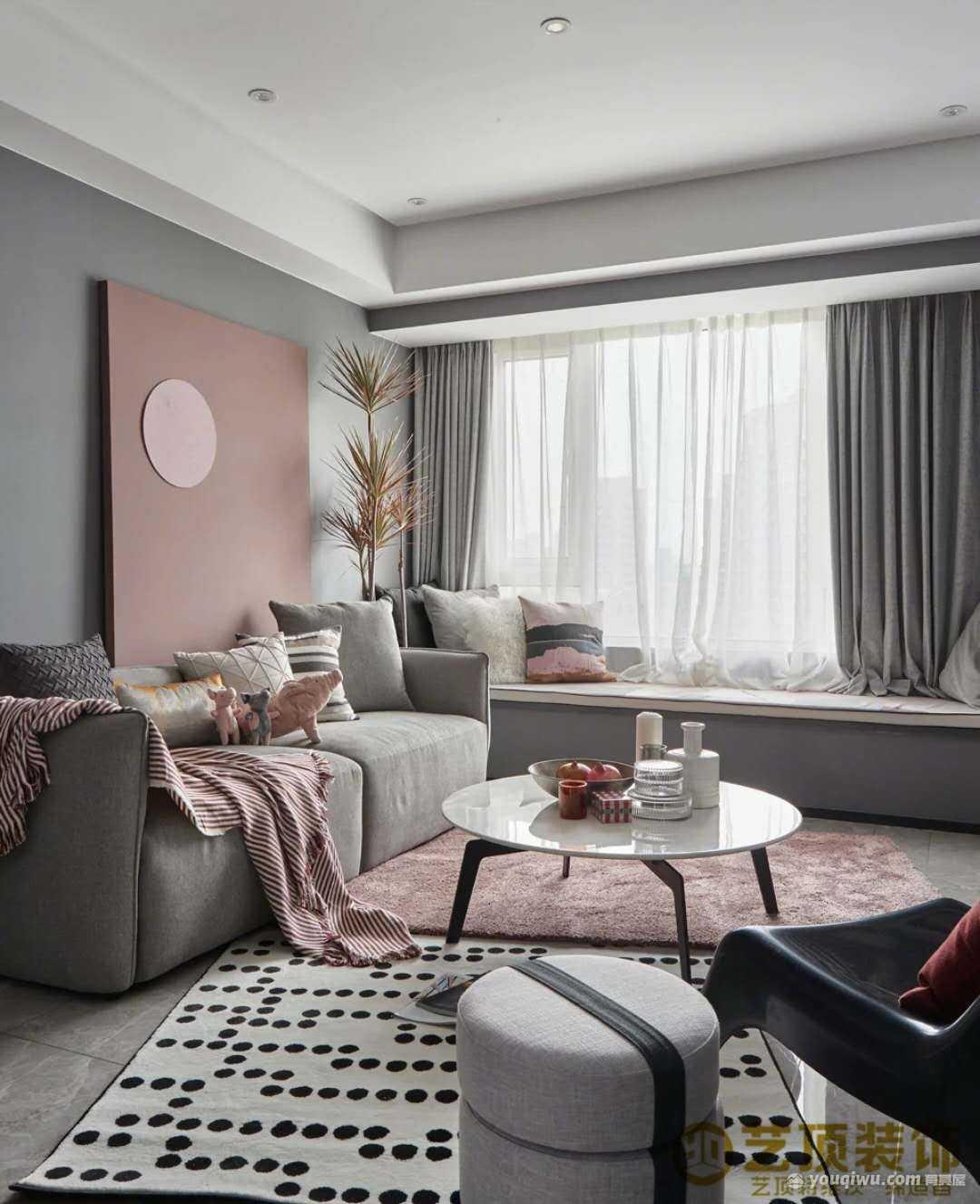 金泰国际二期凯佩99平三室简欧风格装修效果图