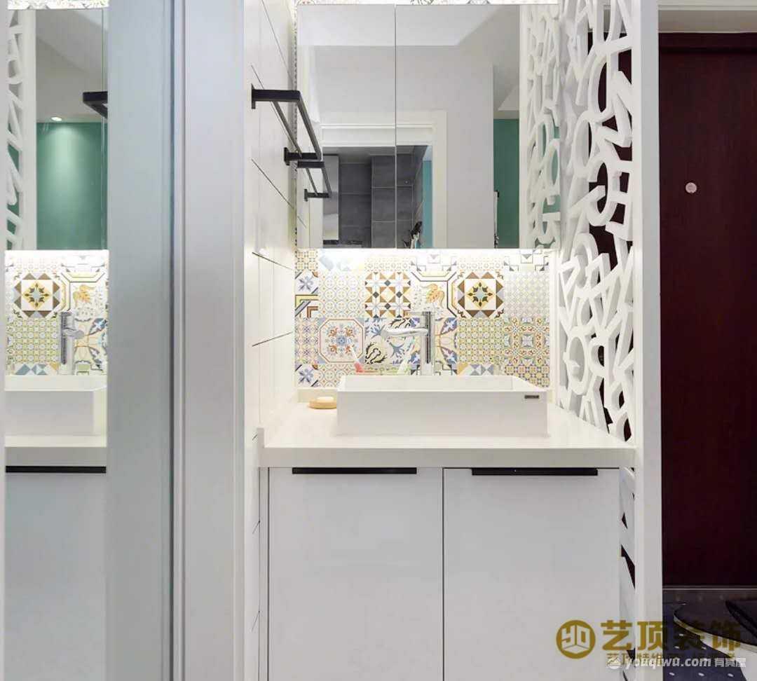 金坤尚城祥和里150平三室简欧风格装修效果图
