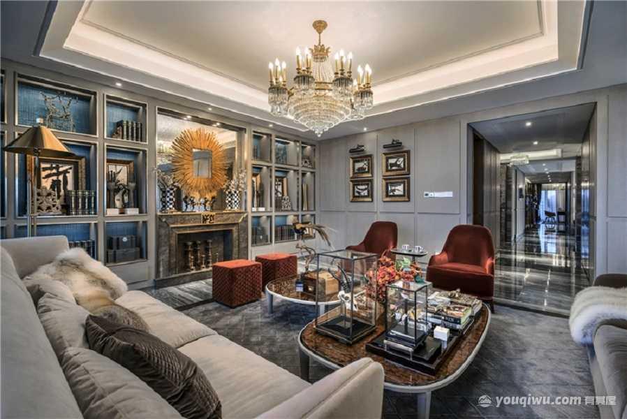 海棠时代广场160平二居室欧式风格装修效果图