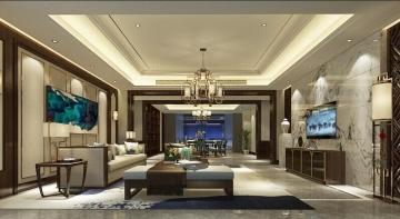 413平豪华舒适中式风格装修效果图