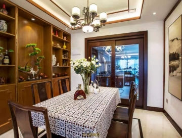 悦城花园149平四室新中式风格装修效果图