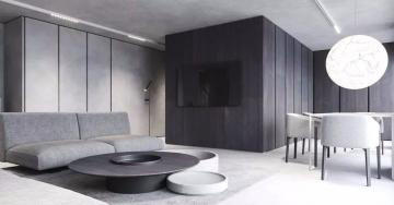 150平三室现代风格装 ...