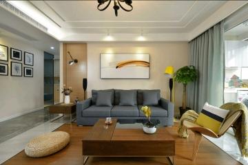 140平三室日式风格装修效果图
