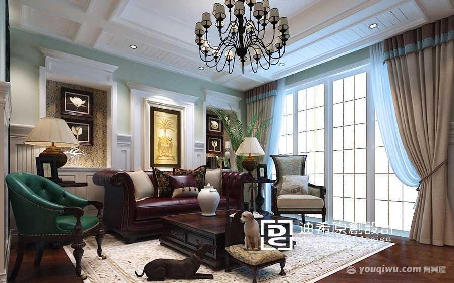 320平别墅美式风格装修效果图