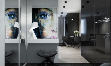 涌鑫昆明之窗34平小户型现代简约风格装修效果图