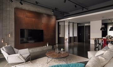 150平四室现代风格装修效果图