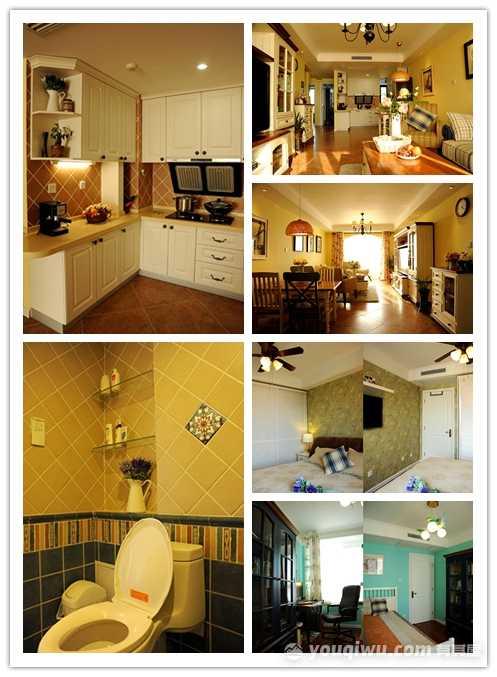 纽宾凯汉city国际社区90平三室地中海风格装修效果图