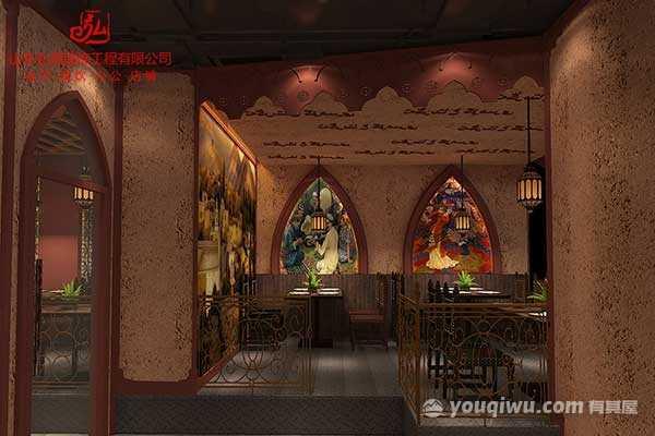 淄博2019最火风格主题餐厅餐饮店设计装修公司_山东弘冠装饰