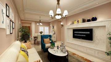 美的林城三室简欧风格装修效果图