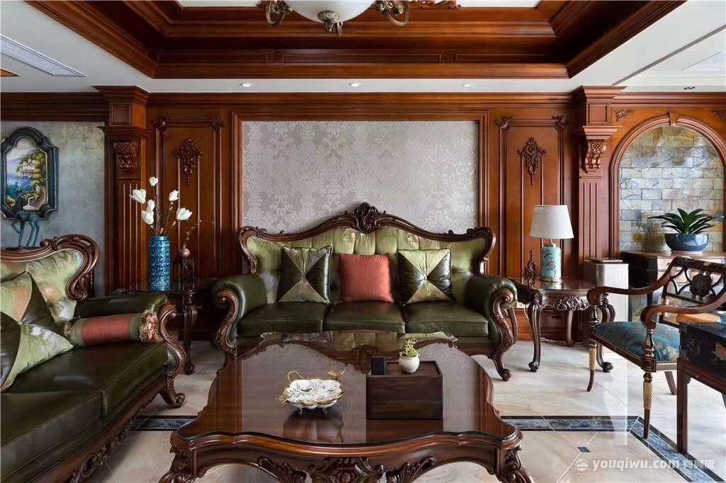130平三室美式风格装修效果图