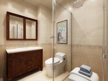 凯旋公馆120平三室中式风格装修效果图