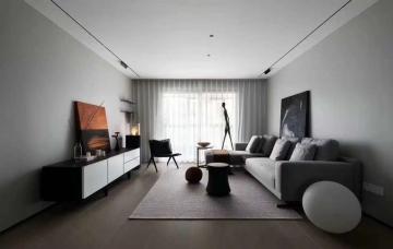 120平三室现代风格装修效果图