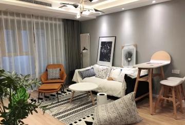 启迪书香逸居89两室现代简约风格装修效果图