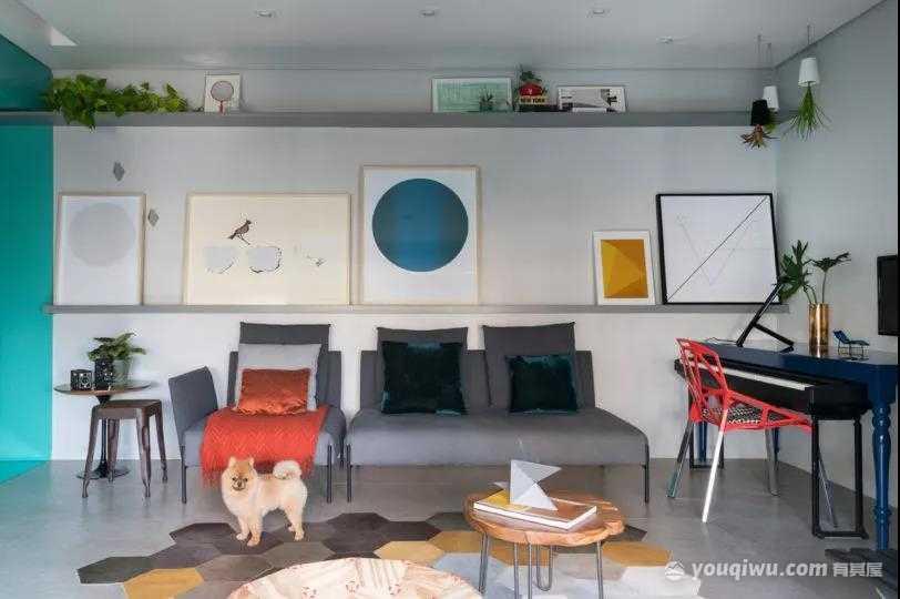 72平两室北欧风格装修效果图