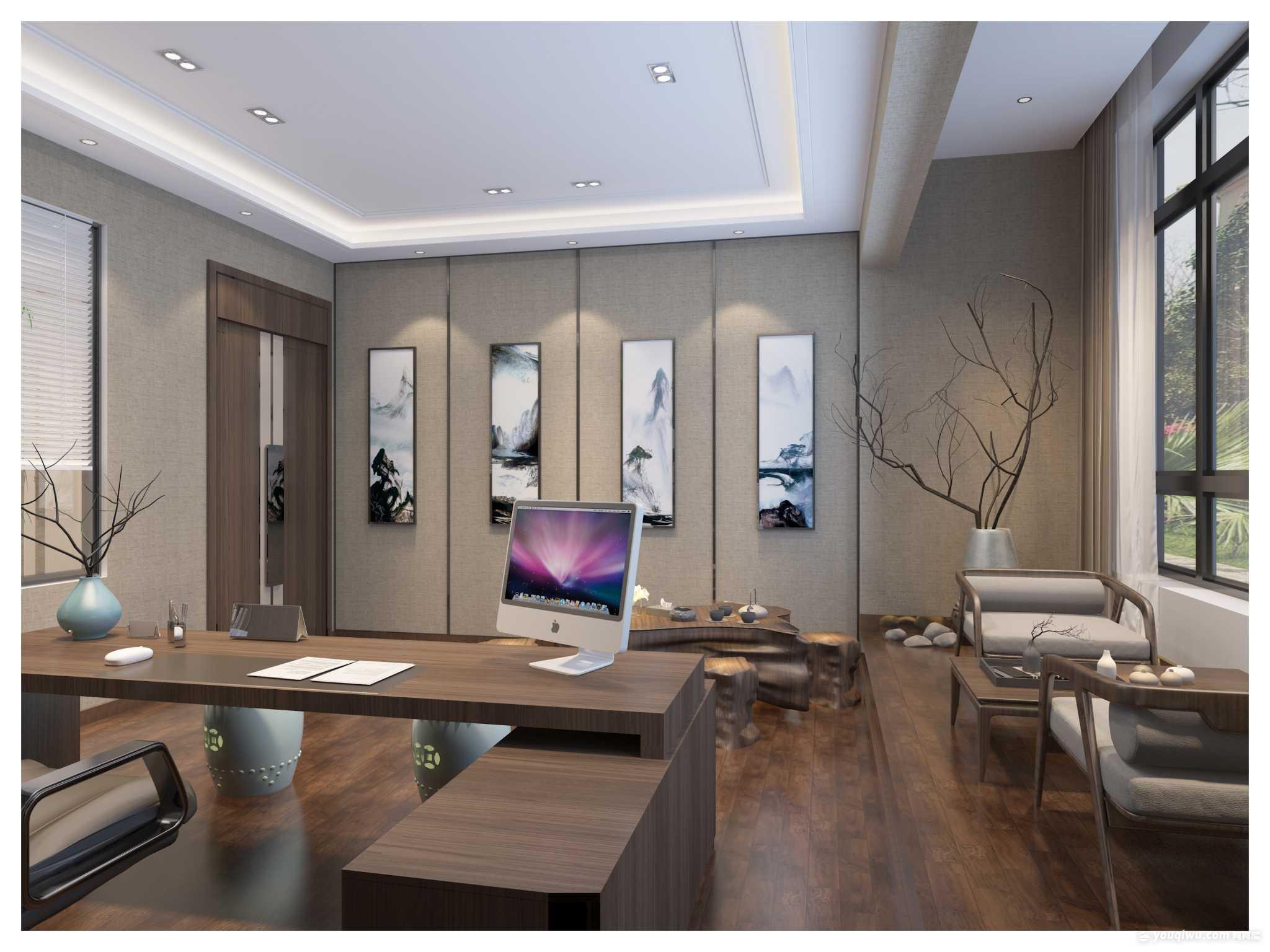 新中式办公区域设计