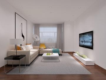 74平两室简约风格装修效果图
