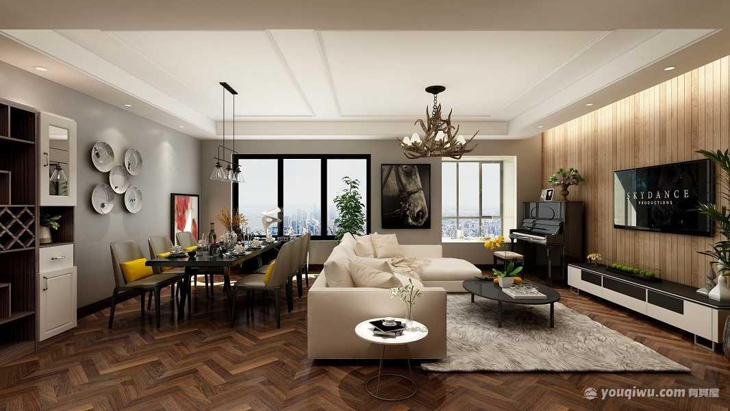 三居室 现代风格 144平雄飞生活广场
