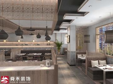 济南中式快餐饮水饺子店特色主题餐厅空间装修设计公司_山东舜禾