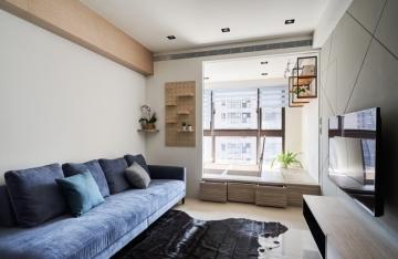 75平三室现代风格装 ...