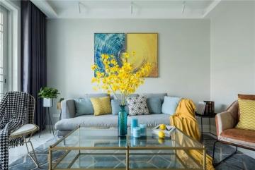 135平三居室现代风格 ...