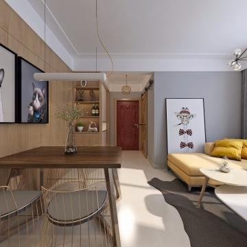湖岸家园118平三室现代装修效果图